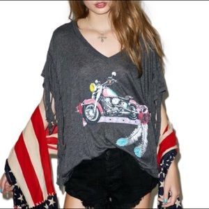 Wildfox | Born to Be Bad Fringe Graphic Tee